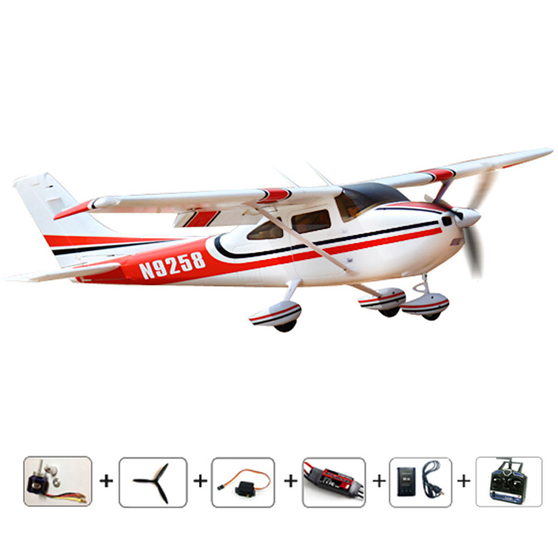 RC airplanes RC cessna 182 RTF radios RC Planes 2.4Ghz 6CH radios control airplane EPO fixed wing plane brushless Free shipping купить недорого в Москве