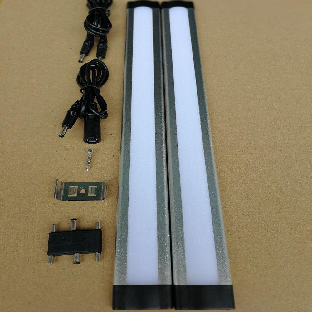 US $21.0 |2 pz x 12in lungo 8 W Armadio Da Cucina Luci 12 v dimmerabile  sottile di Alluminio lampade LED tube Duro Lineare camera da letto sotto ...