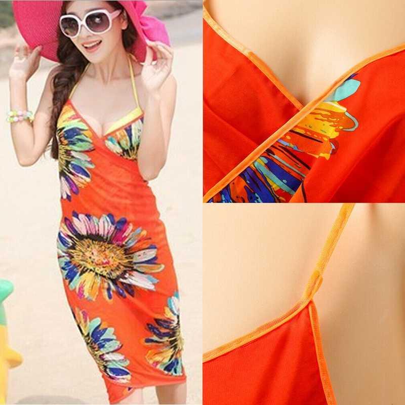 섹시한 여성 쉬폰 비치 비키니 수영복 수영복 스카프 pareo sarong dress hot