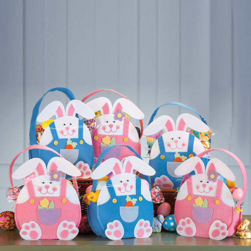 2018 Easter Funny Cute Easter Rabbit Gift Candy Bag Creative Present Home Accessory Blended Cotton Gifts Shopping Carrying Bag