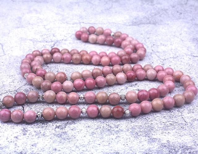 Natural Rhodochrosite Stone Beaded Charm Bracelet/ Necklace 3