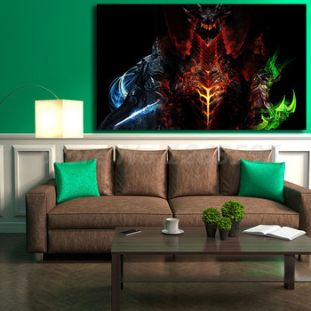 World Of Warcrafts Illidan Stormrage Lich King Art Canvas Poster Painting Wall Picture Print Home Bedroom Decoration image