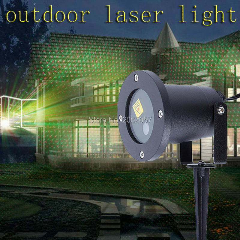 Utomhus IP68 Vattentät gräsmatta Trädgårdsljus Julfest Dekoration RG laserprojektor hem duschar LED-lampor