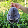 Real Fur Monster Keychains Fashion Key Ring Real Genuine Rex Rabbit Furs Keychain Pendant Bag Car