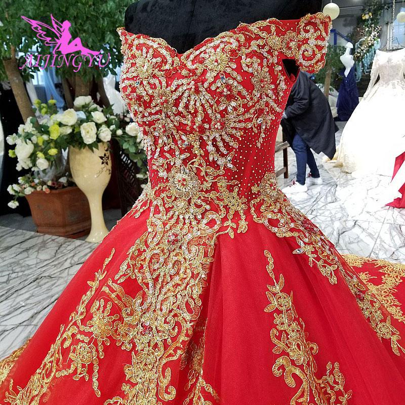 AIJINGYU Wedding Dresses Online Shop China For Older Brides Designers Indian Bridal Gown Marriage Dress For