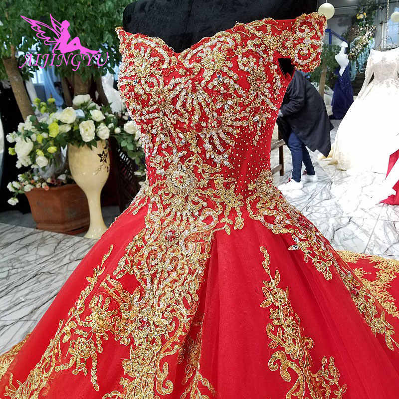 9447428770 AIJINGYU Wedding Dresses Online Shop China For Older Brides Designers Indian  Bridal Gown Marriage Dress For