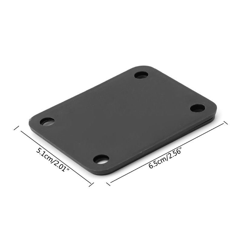 Купить с кэшбэком OOTDTY Electric Guitar Neck Plate Fix Tele Telecaster Guitar Neck Joint Board 4 Screws  Guitar Accessories