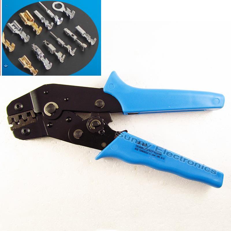 26-16 AWG 2.8/3.96/4.8/5.08/6.3mm Cabos Alicate ferramenta de Friso para não -terminais isolados Crimper