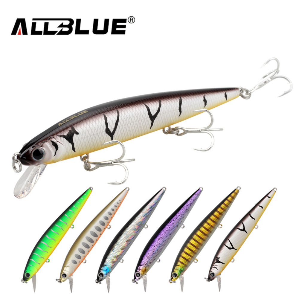 ALLBLUE Best Quality Fishing Wobbler 14.2g/110mm Suspend Minnow Bass Fishing Lures With 6# Hooks peche isca artificial