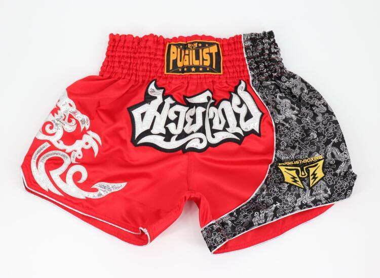 PUGILIST flame series white Thai pants mma shorts fighting shorts bodybuilding martial arts training boxing