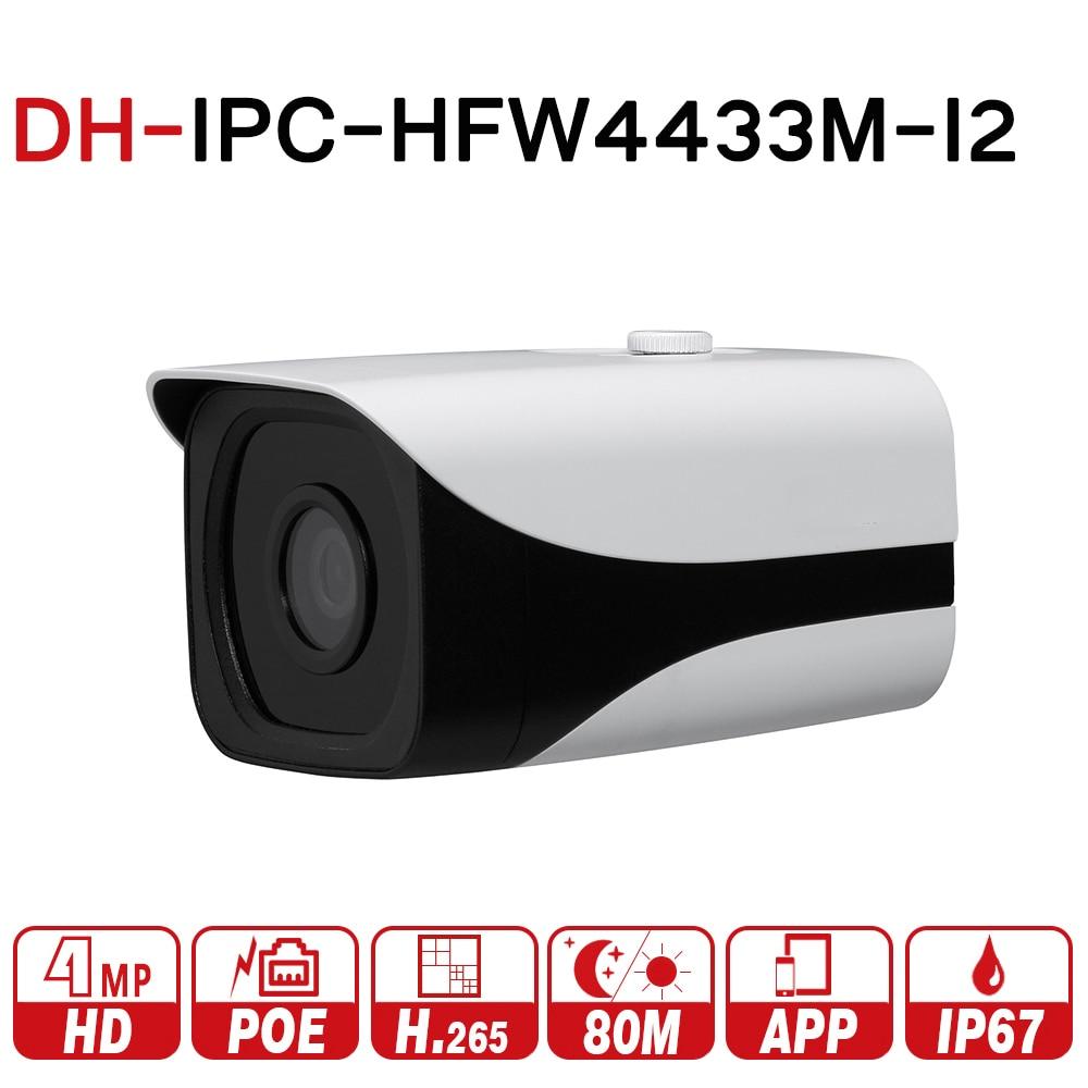 DH IPC-HFW4433M-I2 with logo original 4MP Bullet IP Camera Network ONVIF POE IP67 H.265 3DNR 80m IR Powerful Day/Night Vision original belarus yukon nvmt spartan 4x50 ir night vision monoular max 200m 24127