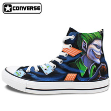 Original Converse All Star Women Men Shoes Joker Harley Quinn Design Hand Painted Shoes Man Woman Sneakers Skateboarding Shoes