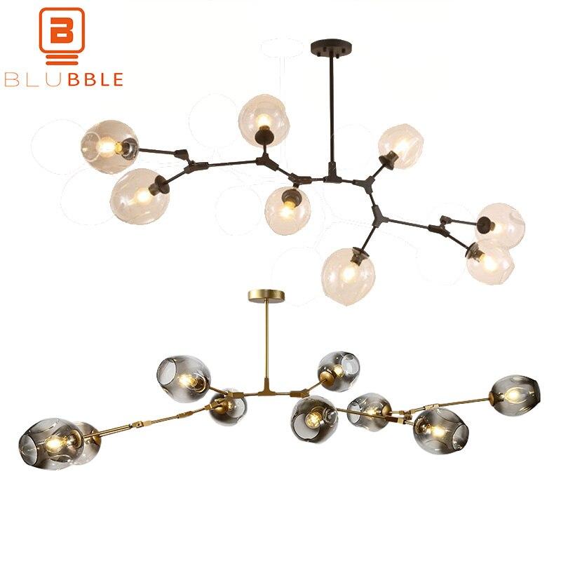 BLUBBLE 3/5/6/7/8/9 Têtes Lustre En Verre Lindsey Adelman Lampadari Branche Moléculaire bubble Ball Art Déco Chambre Droplight