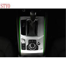 STYO Car ABS Chrome  Interior Electronic Handbrake Panel Cover trim For LHD Mazdas CX-5 CX5 2017 2018