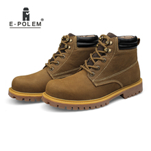 New Arrival Motorcycle Boots for Mens  High Quality Head Layer Cowhide Genuine Leather Ankle