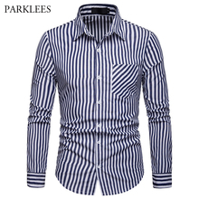058a3297240 Buy vertical striped shirt men and get free shipping on AliExpress.com
