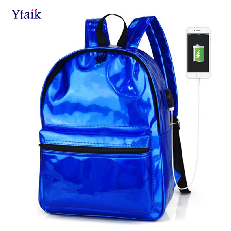 YTAIK, Backpack, Silver, Sac, For, School