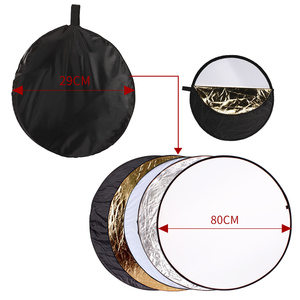 Image 4 - 80cm 5 in 1 Portable Collapsible Round Light Reflector Flash Accessories for Photo Studio Multi Photo Disc Diffuers