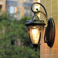 Открытый водонепроницаемый настенные светильники наружного освещения ретро Европейский Промышленный сад, свет, светильник Настенный бра