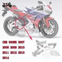 For HONDA CBR 600 RR CBR 600RR 2007 2008 2009 2010 2011 2012 2013 2014 Front Rider Footrest Foot Pegs Bracket