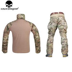 Image 2 - EMERSONGEAR G3 боевая униформа для страйкбола, рубашка, брюки с наколенниками, военный тактический Мультикам, охотничий камуфляж, EM9351