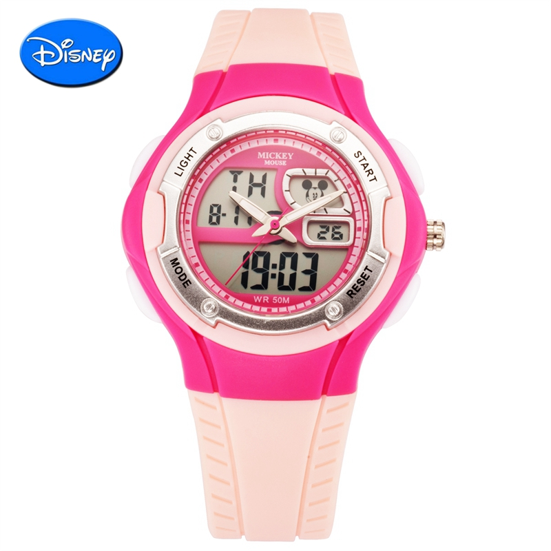 Disney LED Digital Children Watch Kids Watches Girls Boys Clock Child Sport Wrist Watch Electronic for