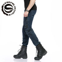 how yes NEW Locomotive jeans With knee protector Rider pants CE Gear Motorcycle Shorts Leisure Cultivate Jeans SKP704