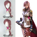 Synthetic Girl's Long Curly Pink Hair Final Fantasy Lightning Game Style Wigs Cosplay Party Costume Wig