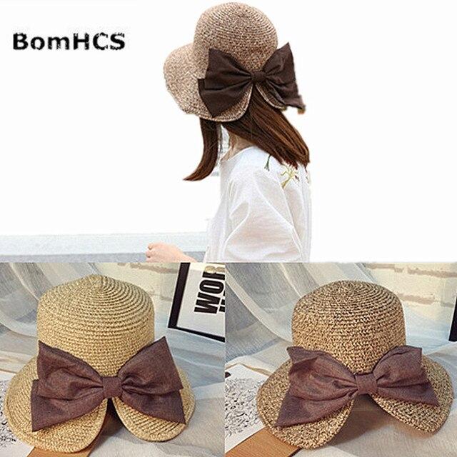 d5a897bee2780 BomHCS Women Girls Foldable Wide Brim Roll-up Crocheted Straw Hat Beach Sun  Visor Cap