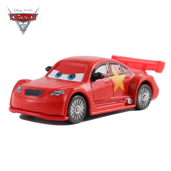 Coches Disney coche de Pixar 3 dragón chino McQueen coche Jackson Storm Ramirez 1:55 coche de juguete de Metal de aleación juguetes para niños regalo de cumpleaños
