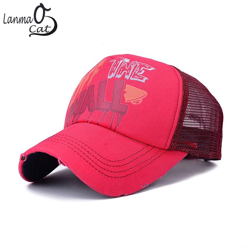 Fashionable Breathable Cotton Lovers Cap Unisex Snapback Cap Men or Women Baseball Net Caps For Summer  Sun Hats Free Shipping