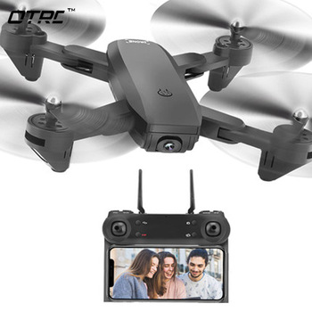D107 Camera Drone With Camera HD Dron Optical Flow Positioning Quadrocopter Altitude Hold FPV Quadcopters Folding RC Helicopter 1