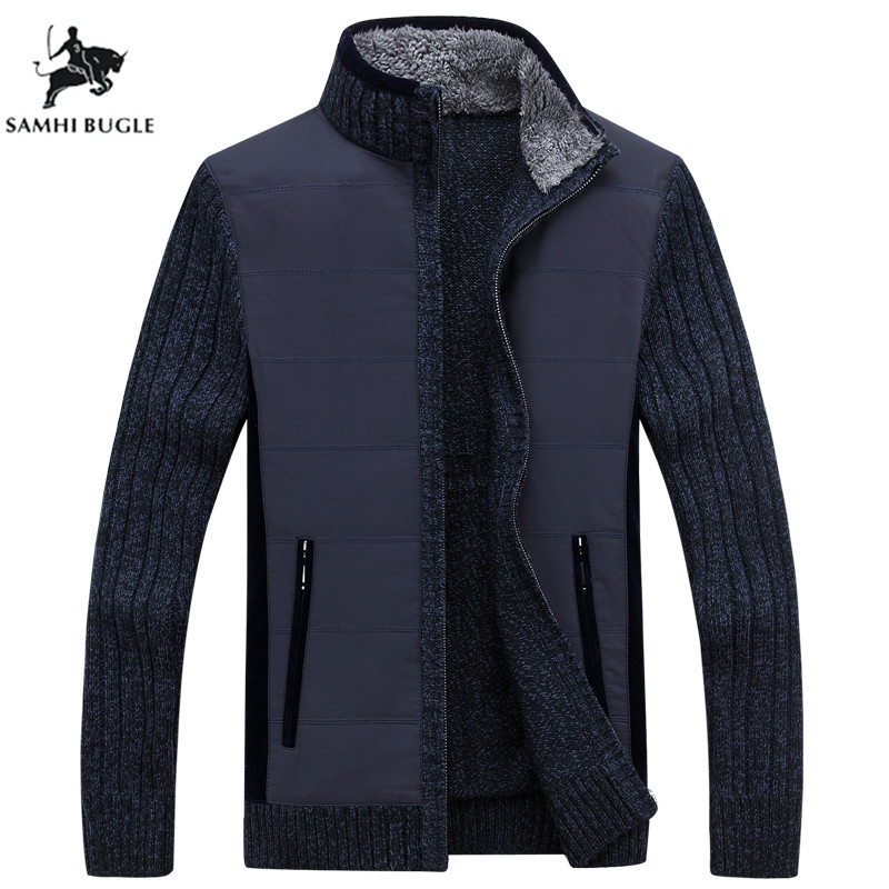 Winter Warm Sweater Men 2019 Mens Thick Mens Cardigan Sweater Brand Clothing Wool Liner Pull Homme Knitwear Clothing