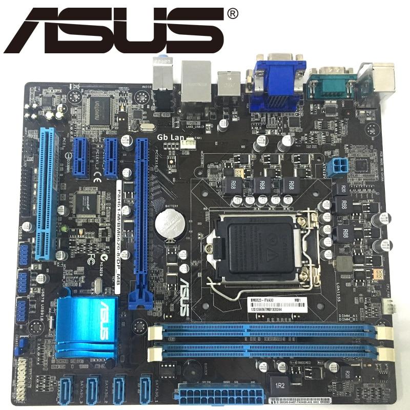 Asus P8H61 M/BM6620 8/DP_MB Desktop Motherboard H61 USB 2 0