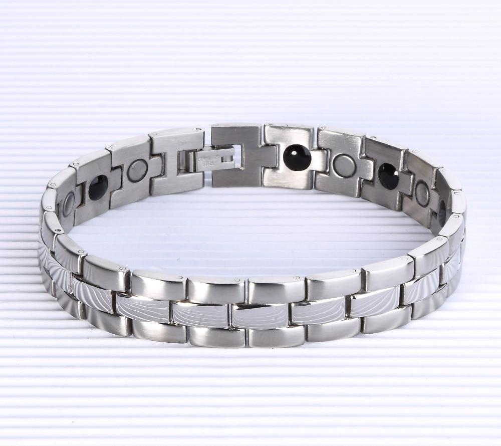 5 Pcs Lot Pengiriman Gratis 316l Stainless Steel Penyembuhan Best Tungsten Ceramic Magnetic Bracelet Gelang Pria Wanita Kesehatan Magnet Untuk Energi Germanium Daya Tg 024w 85
