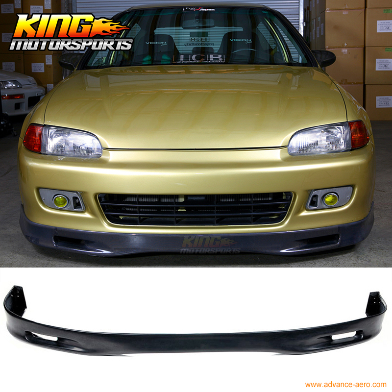 FOR 92-95 HONDA CIVIC EG 2 3DR PU SPOON FRONT BUMPER LIP SPOIER BODYKIT URETHANE купить в Москве 2019