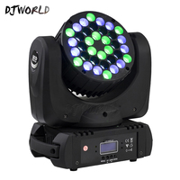LED Beam 36x3W Moving Head Light RGB LED Wash Light With 9/16 Channels Linear Dimming DMX512 Stage Lights Professional Stage&DJ