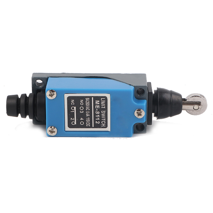 Black+blue mini trip switch TZ ME 8112 micro-switch limit switch plunger wheel power switch 2pcs