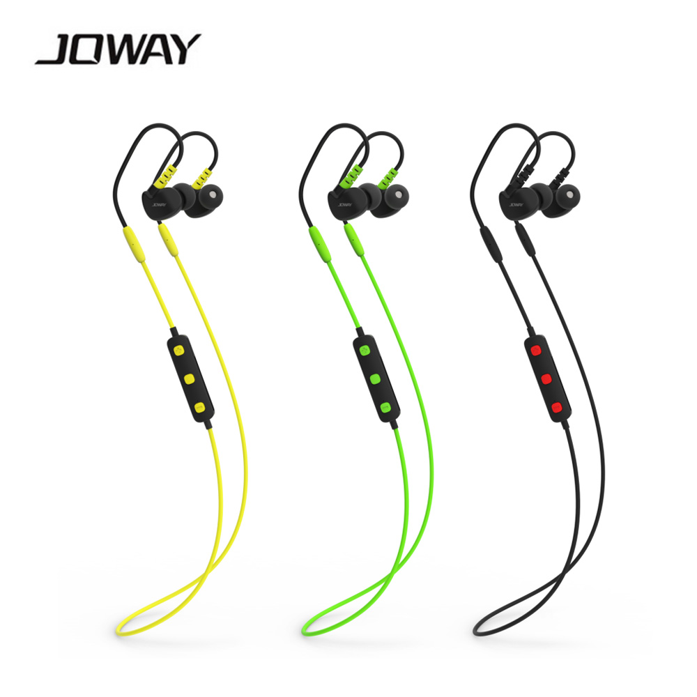 100% Original Joway H13 Wireless 4.0 Bluetooth Earphone Stereo Music Sports Running Headsets With Microphone with retail box 2016 white and black joway h 08 wireless noise cancelling voice control sports stereo bluetooth v4 0 earphones with microphone