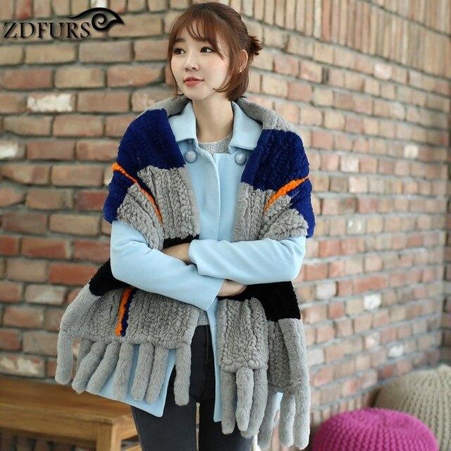 Europa colar cor combo cor hit cor grande outono e inverno xale quente 100% importado Rex coelho lenços especial do sexo feminino