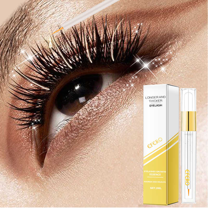 a90b6fbaf84 EFERO Eyelash Growth Serum Curling Eyelash Enhancer Mascara Essence Natural  Longer Thicker Lashes Eyelashes for Makeup