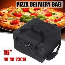 Сумка для хранения 16 дюймов из ткани Оксфорд, сумка для доставки пиццы, прочный портативный контейнер, термопрочный изолированный контейне...