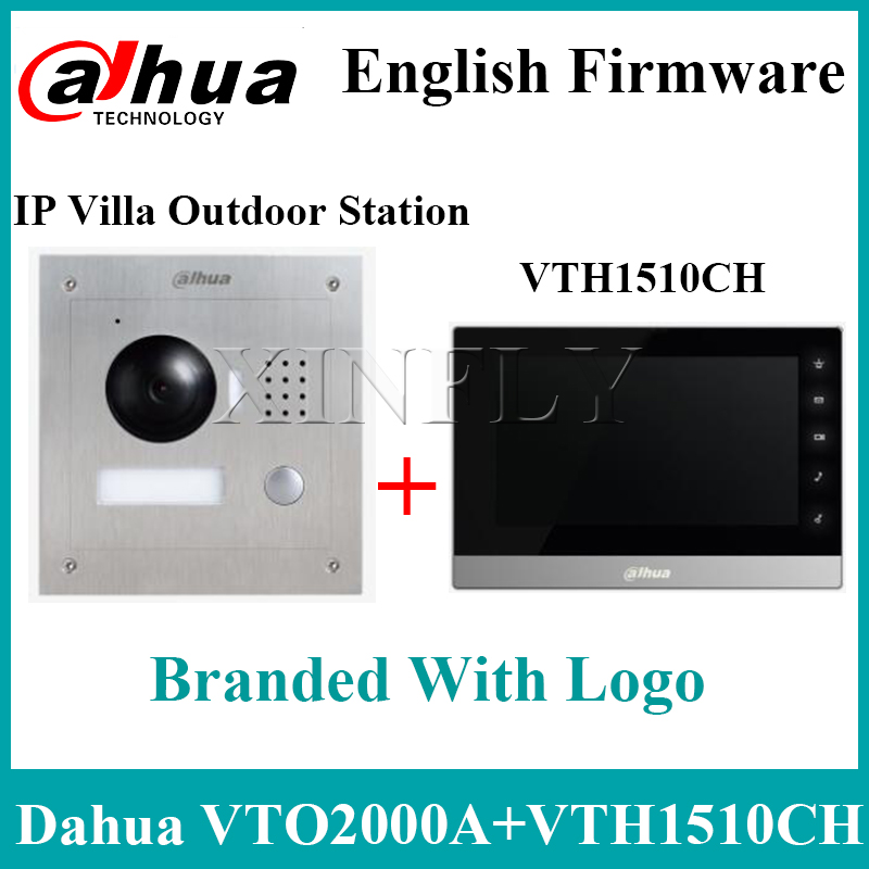 Dahua VTH1510CH 7Inch IP Kit VTO2000A 2-Door Control Remote Intercom With Mobile APP Upgrade Model VTH1550CH VTH1660CH With Logo