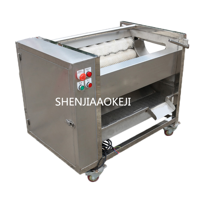 Automatic ginger washing and peeling machine ZH-QP800S /ginger roller peeling machine Sweet potato cleaning peeling machine 380VAutomatic ginger washing and peeling machine ZH-QP800S /ginger roller peeling machine Sweet potato cleaning peeling machine 380V