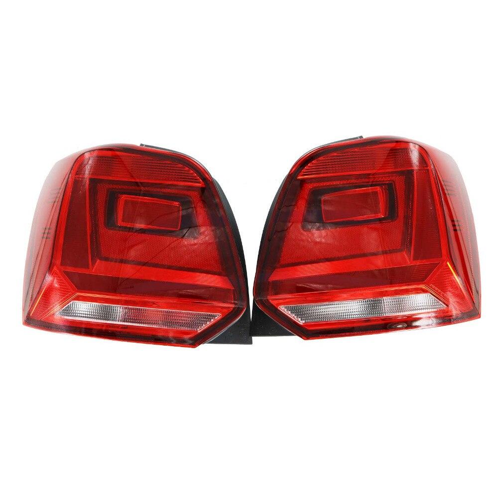 Car Rear light For VW Polo 6C Hatchback 2014 2015 2016 2017 Car-Styling New Rear Light Tail Light 6RD945095B 6RD945096B car styling car light tail light led rear light for nissan sentra 2014 2015