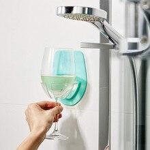 Держатель для бокала вина пластиковый вертикальный без присосок держатель для красного вина 6,4x4,1x0,2 шелковистый крепкий стеллаж для вина для ванной комнаты F222