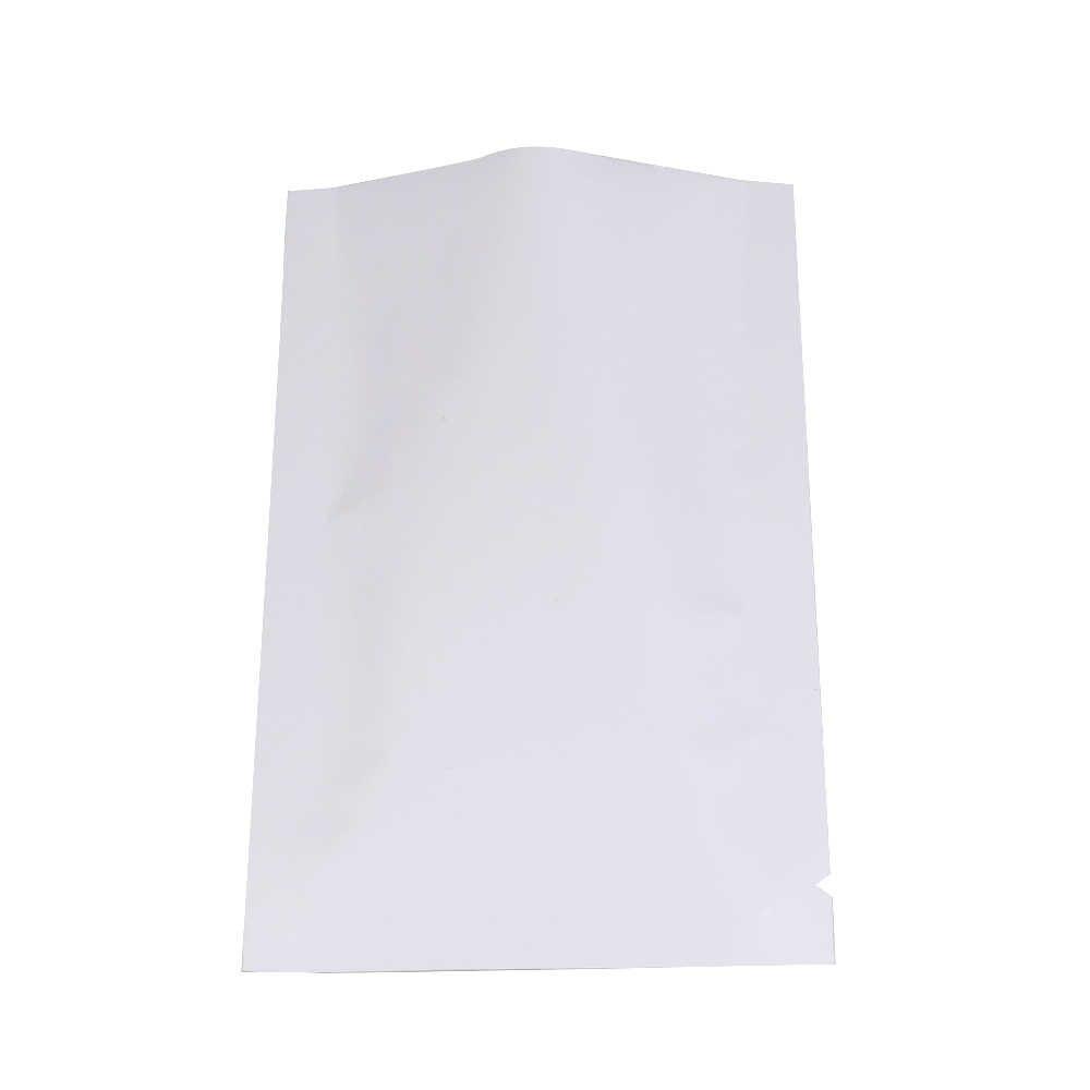 Variet rozmiarów biały/złoty/srebrny/czerwony/zielony/niebieski/fioletowy/czarny zgrzewalna folia aluminiowa płaska saszetka otwarty od góry pakiet torba