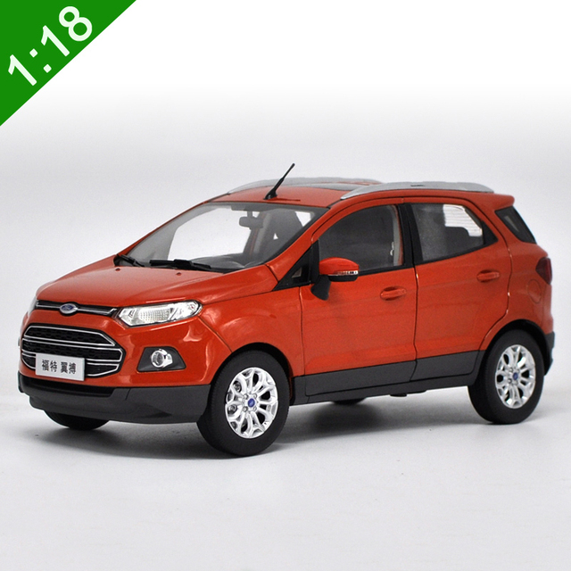 New 118 Diecast Model For Ford Ecosport 2015 Orange SUV Alloy Toy Car