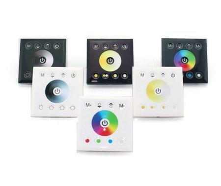 Wall-Mounted Touch Panel/Color Temperature/WIFI Controller Dimmer Switch for RGB RGBW LED Strip light 12V-24V стоимость