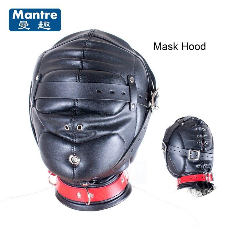 Slave Hood Mask Feiths Bondage Restraints Erotic Face -8306